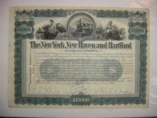 York Haven & Hartford Railroad Company Bond Stock Certificate 1897 photo