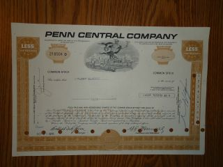 Penn Central Railroad Stock Certificate 10 Shares Credit Suisse photo