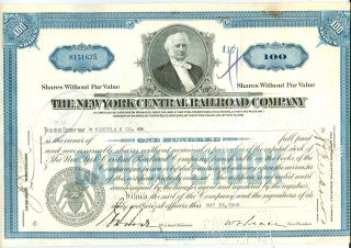 1940 York Central Railroad Co.  Capital Stock Cancelled photo
