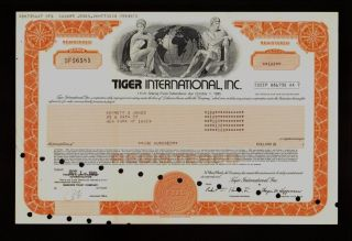 Tiger International Inc (now Airfreight) Issued To Kenneth Jones photo