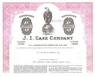 1978 J.  I.  Case Bond Certificate Tractors & Construction Equipment photo