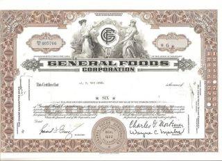General Foods Corporation Stock Certificate photo