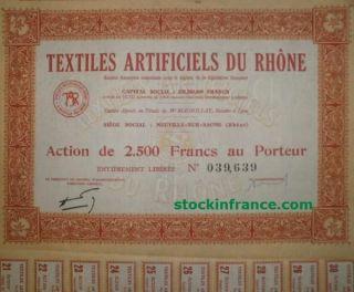 Textiles Artificiels Du Rhône photo