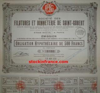 Filatures Et Bonneterie De Saint - Gobert photo