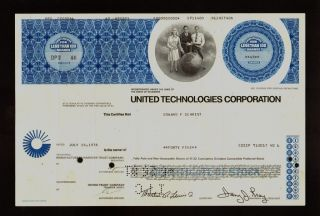 Utc : United Technologies Corporation Issued To Edward Schmidt 1976 photo