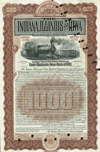PANAMA BAYANO RIVER LUMBER COMPANY stock certificate 1909 $500 US BOND