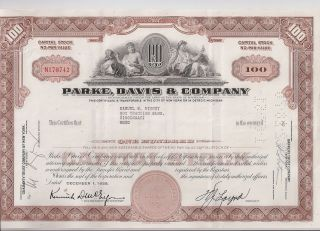 Parke,  Davis & Company. . . . . .  1966 Stock Certificate photo