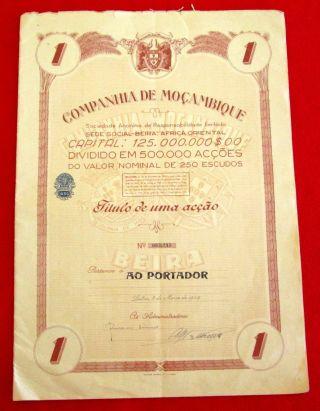 Companhia De Mocambique Certificate 1949 U photo