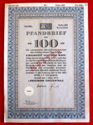 German Bond Landesbank Girozentrale 1963 T2u photo