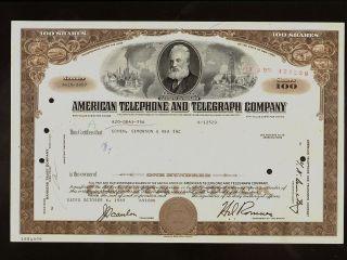 Att American Telephone Telegraph Company 1969 Vign Alexander Graham Bell photo