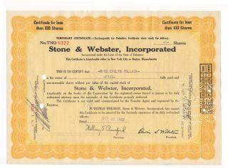 13 Pc - 1929 Stock Certs.  Stone Webster Oct/nov Crash photo