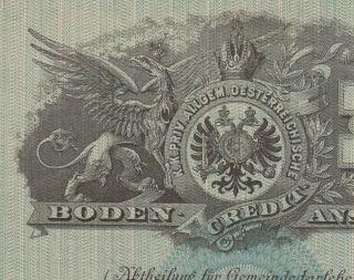 Austria Credit Institution Bond Stock Certificate 1889 Beauty. .  100 Gulden photo