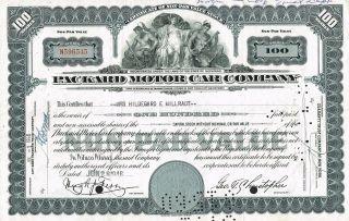 Usa Packard Motor Car Company Stock Certificate photo