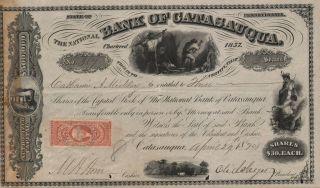 Usa Bank Of Catasauqua Stock Certificate 1870. . . . .  Pennsylvania photo