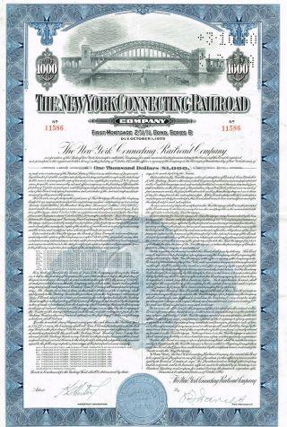 Usa York Connecting Railroad Company Bond Stock Certificate photo
