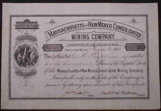 1881 Massachusetts And Nm Consolidated Mining Co. photo