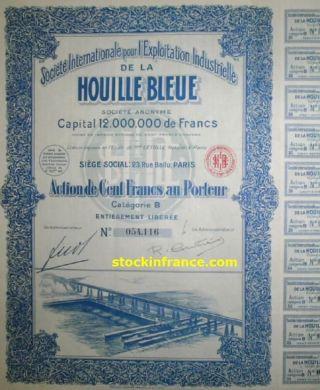 Société Internationale Pour L ' Exploitation Industrielle De La Houille Bleue photo