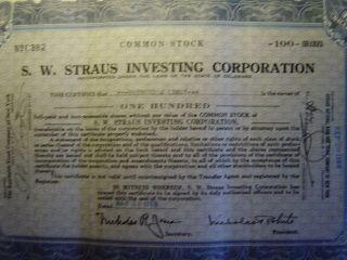 S.  W.  Straus Investing Corporation photo