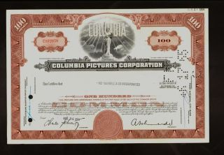 Hollywood :columbia Pictures Corporation 1964 Iss To Mcdonnell & Co Inc photo