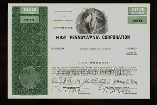 First Pennsylvania Corp Philadelphia (lateron Corestates Wells Fargo Bank photo