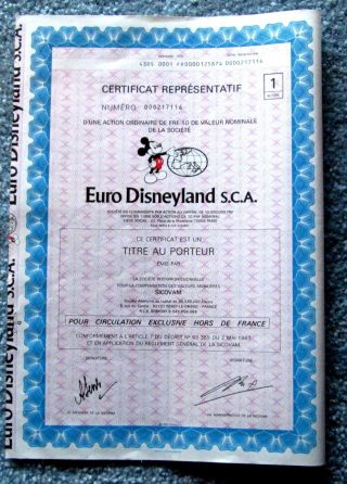 Disney Stock Euro Disneyland Sca With Coupons Mickey Mouse Disneyana Art 19.  T3u photo
