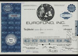 Eurofund Inc Maryland Iss To Shearson Hammill photo