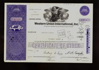 Wui : Western Union International Inc York 1968 Iss To Carlton & Brooks photo