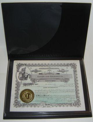 11 X 14 Stock & Bond Certificate Storage Display Album photo