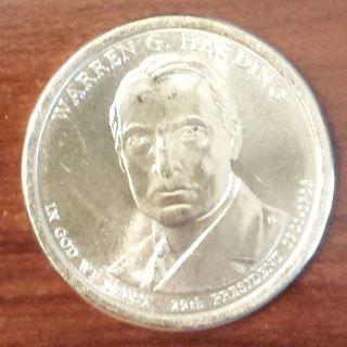 2014 - D Warren G Harding Presidential / Golden Dollar (4426) photo