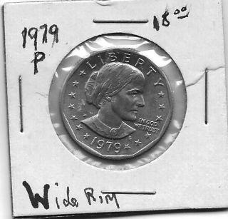 Susan B Anthony 1979 P Wide Rim Un Circulated Gem photo