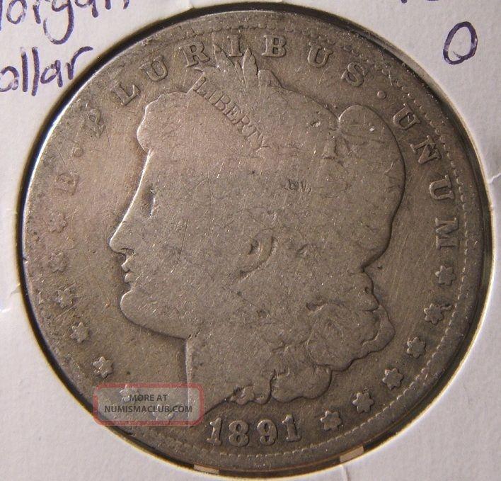 1891 O Silver Morgan Dollar G Vg Better Date