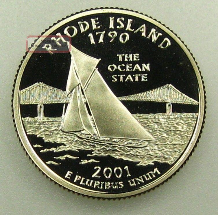 2001-S Rhode Island State Quarter Clad Gem Proof Deep Cameo