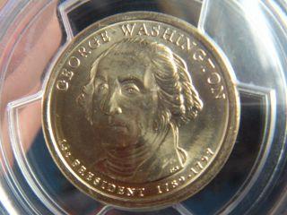 2007 Washington Presidential Dollar Error Missing Edge Lettering Pcgs Ms 64 photo