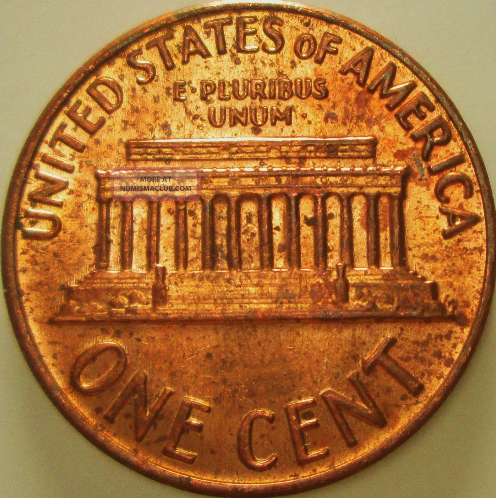 1970 D Lincoln Cent Obverse Die Clash