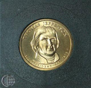 2007 - P Thomas Jefferson - Position B - Satin Uncirculated photo