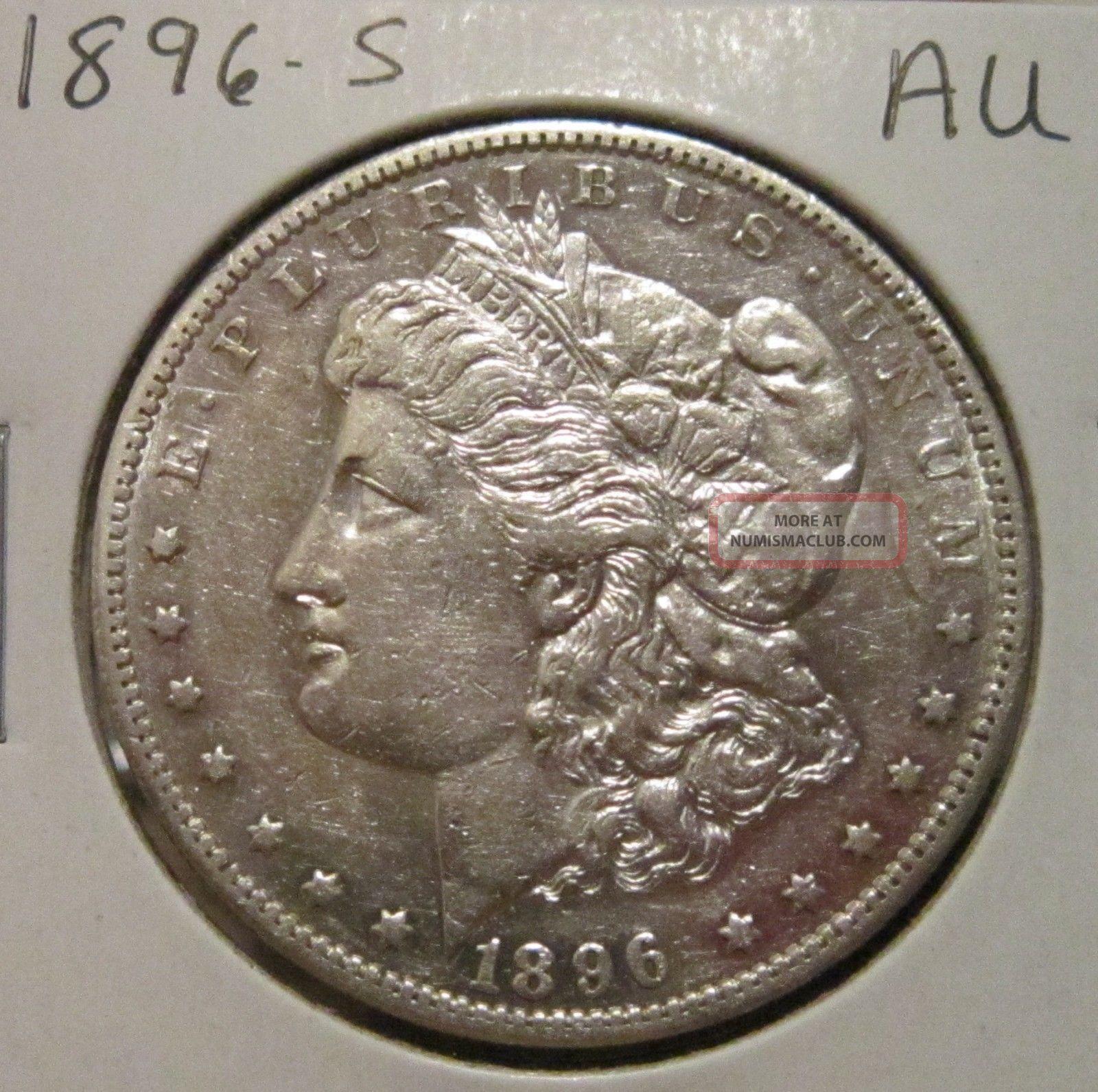 1896 S Morgan Silver Dollar Au Rare Key Date Us Silver Coin