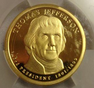 2007 - S $1 Thomas Jefferson Proof,  Third President,  Icg Pr70 Dcam photo