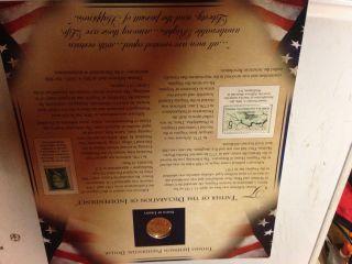 2007 Thomas Jefferson Commemorative Panel Dollar Coin & Stamps photo