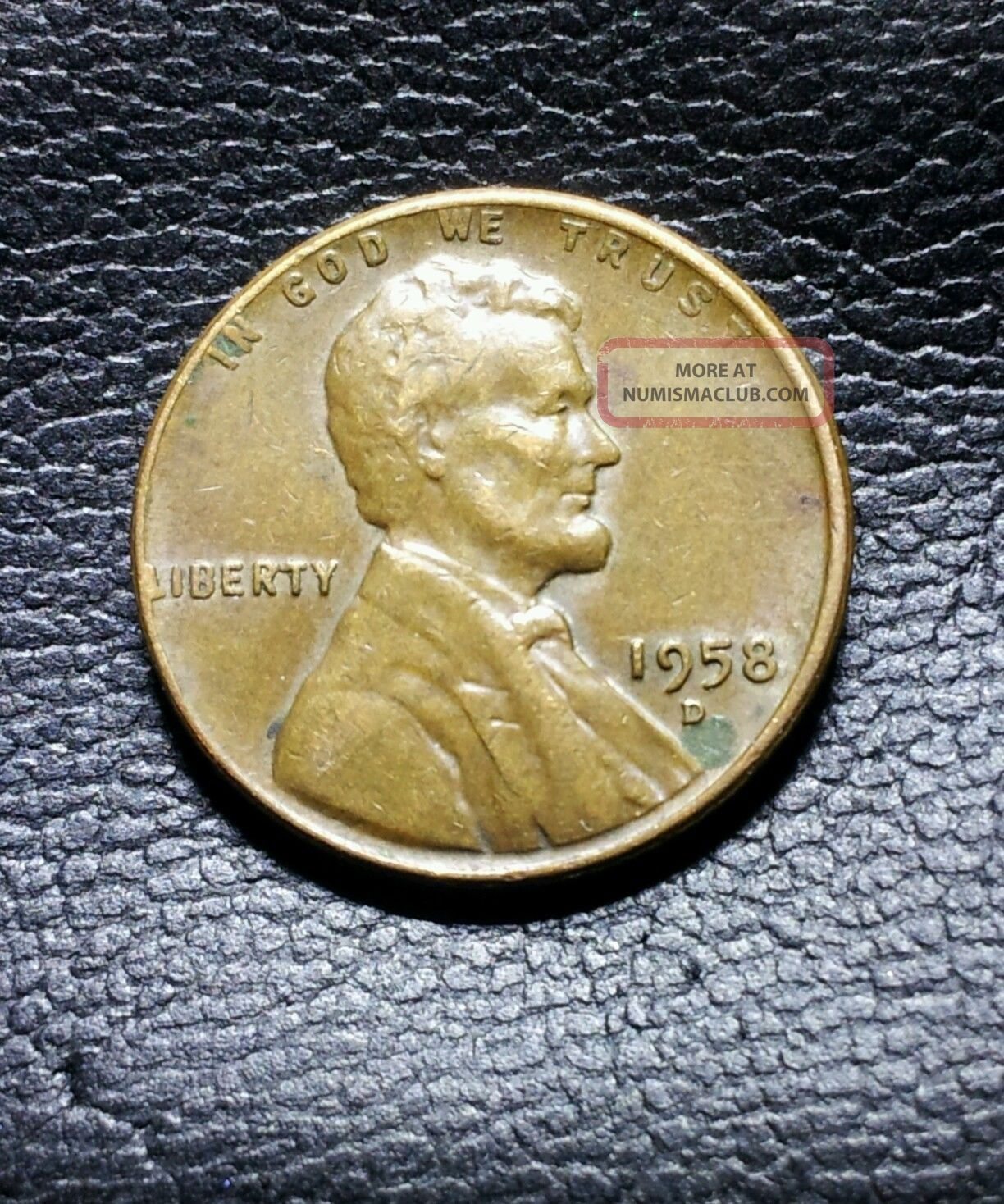 1958 D Wheat Penny Error Coin  Major Lamination Peel On