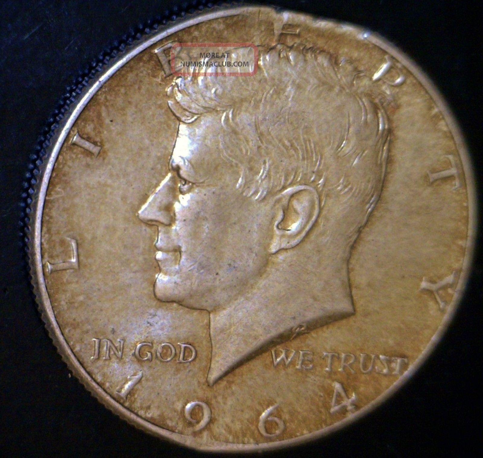 1964 Defective Planchet Error Silver Kennedy Half Dollar