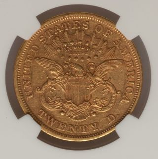 1873 S $20 Closed 3 Liberty Dbl Eagle Coin Ngc San Fran photo