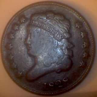 1828 (f) Classic Head Half Cent 12 Star photo