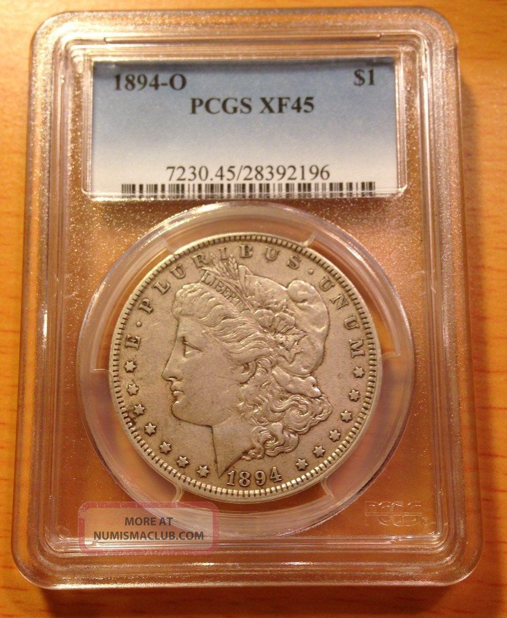 1894 O Morgan Silver Dollar Pcgs Xf45