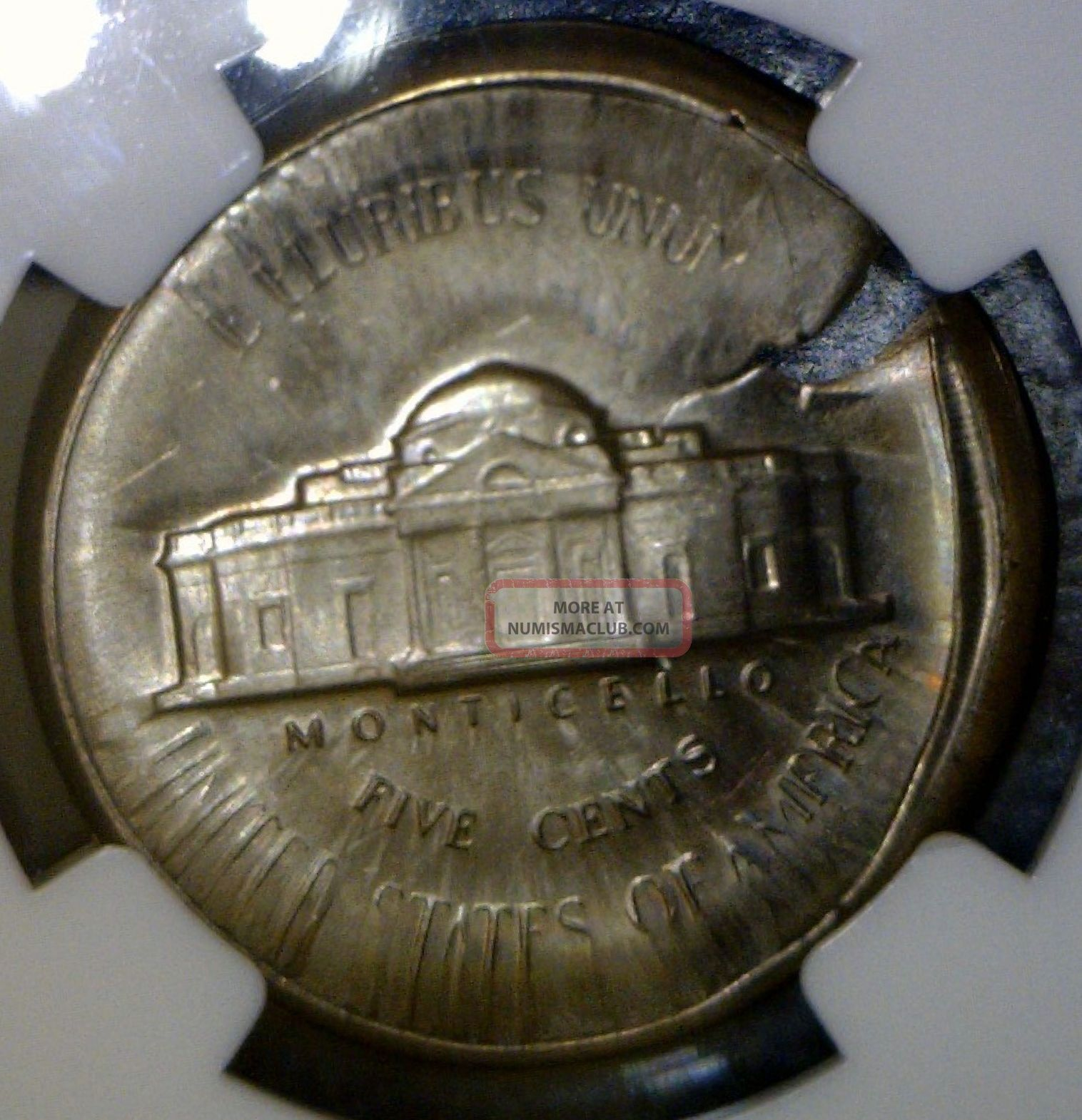 Huge Indent Ngc Ms64 Multi Double Struck Error Jefferson