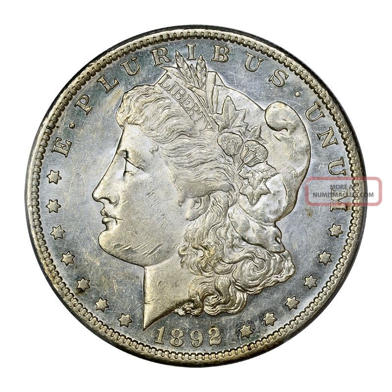1892 - S $1 Morgan Dollar Pcgs Au58 Dollars photo