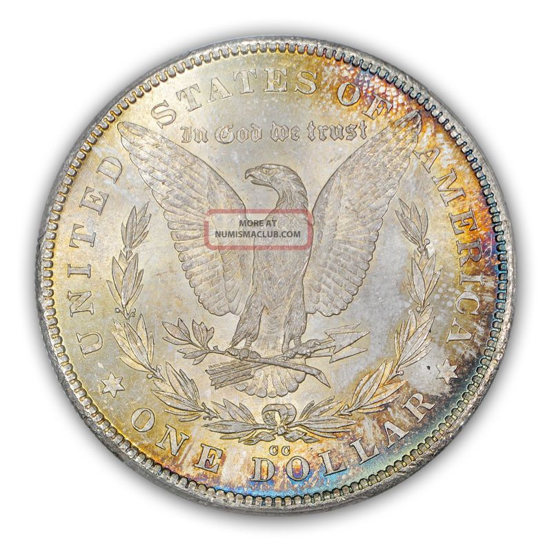 1878 Cc 1 Morgan Dollar Pcgs Ms65 Obv Color 1076 3