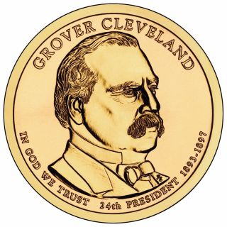 2012 Grover Cleveland 2nd Term President Dollar P Or D 1 - Coin Uncirculated photo