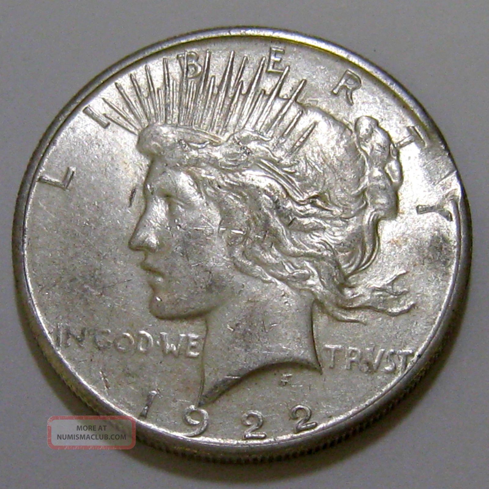 Ddo 1922 S Peace Silver Dollar With Double Die Obverse
