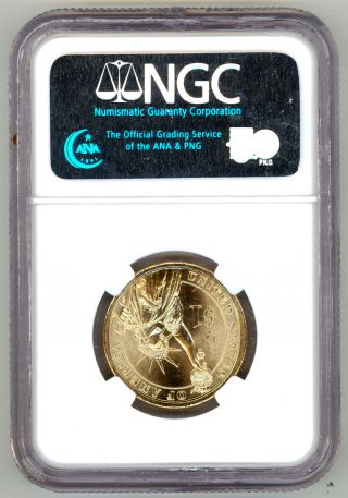 Usa 2007 D Ngc Ms 65 First Day Of Issue George Washington $1 Dollar Unc Coin Usd photo
