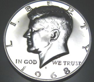1968 Kennedy Silver Half Dollar - - Gem Silver Proof Coin photo